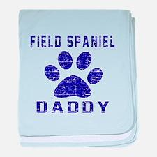 Field Spaniel Daddy Designs baby blanket