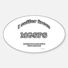 GSP Syndrome Oval Decal