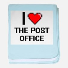 I love The Post Office digital design baby blanket