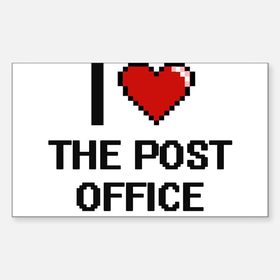 I love The Post Office digital design Decal