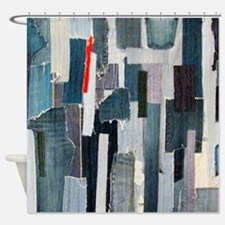 Mad about Denim Shower Curtain