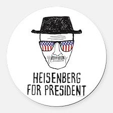 Heisenberg for President Round Car Magnet