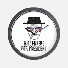 Heisenberg for President Wall Clock