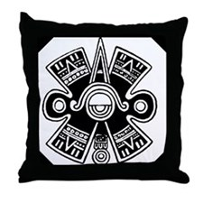 Ancient Mexican Cosmology Symbol Throw Pillow