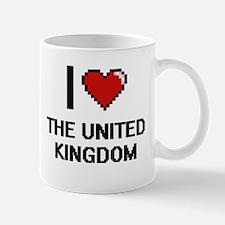 I love The United Kingdom digital design Mugs