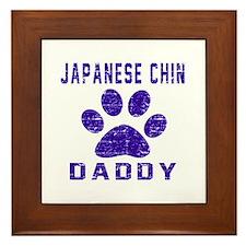 Japanese Chin Daddy Designs Framed Tile