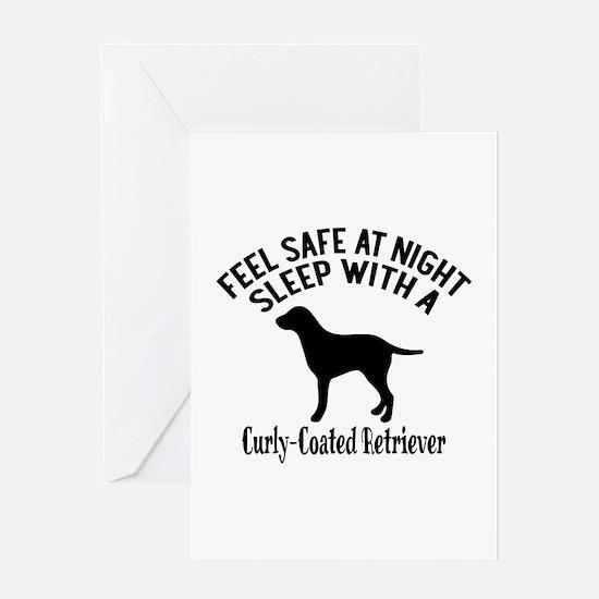 Sleep With Curly Coated retriever Do Greeting Card