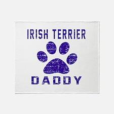 Irish Terrier Daddy Designs Throw Blanket