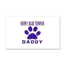 Kerry Blue Terrier Daddy Design Car Magnet 20 x 12