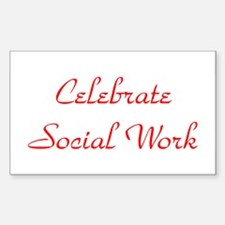 Celebrate SW (red) Rectangle Decal
