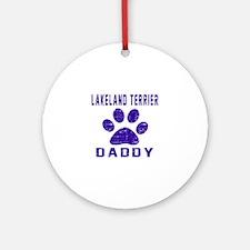 Lakeland Terrier Daddy Designs Round Ornament