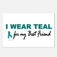 I Wear Teal For My Best Friend 2 Postcards (Packag