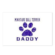 Miniature Bull Terrier Da Postcards (Package of 8)