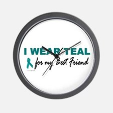 I Wear Teal For My Best Friend 2 Wall Clock