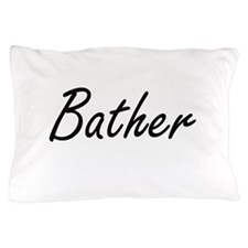 Bather Artistic Job Design Pillow Case