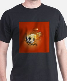 Soccer with fire T-Shirt