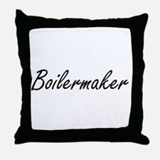 Boilermaker Artistic Job Design Throw Pillow