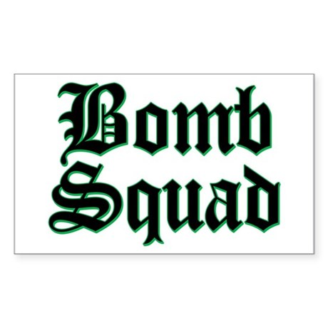 Bomb Squad Rectangle Sticker
