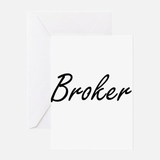 Broker Artistic Job Design Greeting Cards