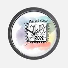 Color Outside the box Wall Clock