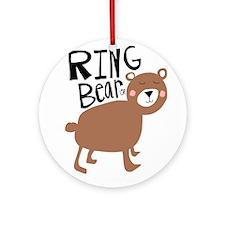 ring bear-er Round Ornament