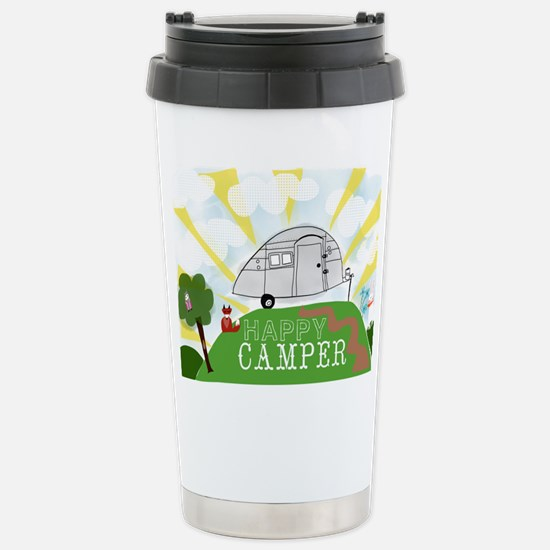 Happy Camper Stainless Steel Travel Mug