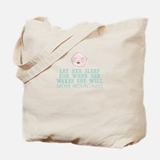 Sleepy Baby Tote Bag