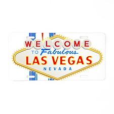 LAS VEGAS GLOW Aluminum License Plate