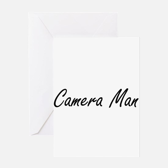Camera Man Artistic Job Design Greeting Cards