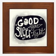 Good night, sleep tight Framed Tile
