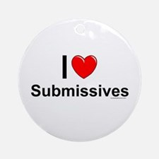 Submissives Round Ornament