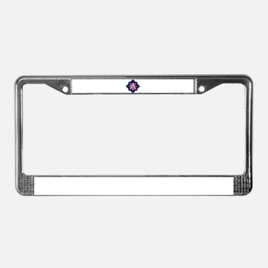 Classy Brilliant Monogram A License Plate Frame