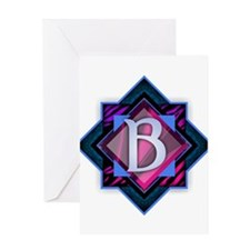 Classy Brilliant Monogram B Greeting Cards