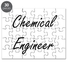 Chemical Engineer Artistic Job Design Puzzle
