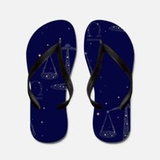 stars libra Flip Flops