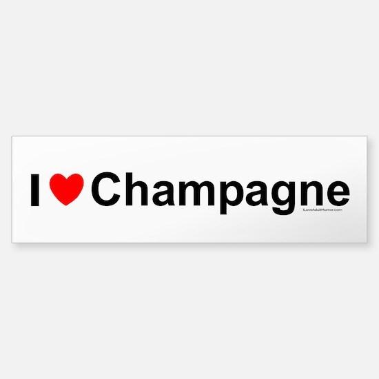 Champagne Sticker (Bumper)