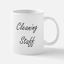 Cleaning Staff Artistic Job Design Mugs