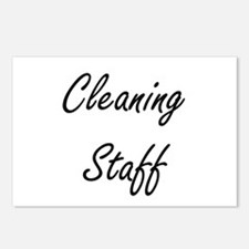 Cleaning Staff Artistic J Postcards (Package of 8)