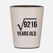 96 Years Old Square Root Shot Glass