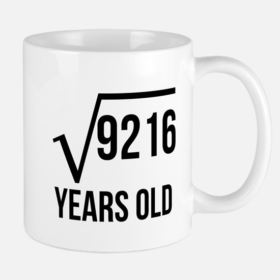 96 Years Old Square Root Mugs