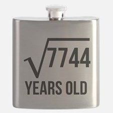 88 Years Old Square Root Flask