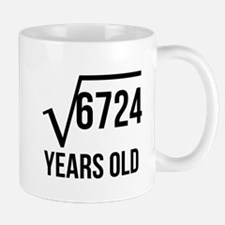 82 Years Old Square Root Mugs