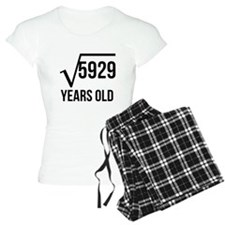 77 Years Old Square Root Pajamas