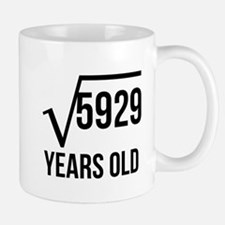77 Years Old Square Root Mugs