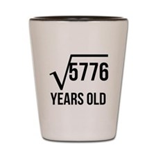 76 Years Old Square Root Shot Glass