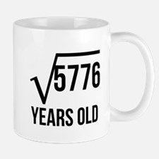 76 Years Old Square Root Mugs