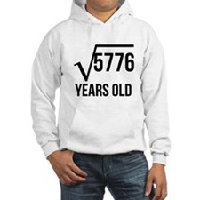 76 Years Old Square Root Hoodie