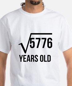 76 Years Old Square Root T-Shirt