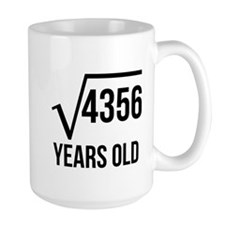 66 Years Old Square Root Mugs