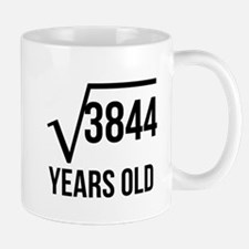 62 Years Old Square Root Mugs